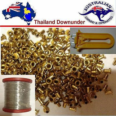 Beekeeping Stainless 304 Frame Wire 500G , Crimper & 1200 + Brass Frame Eyelets