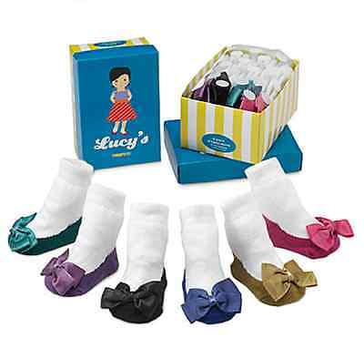 NEW Trumpette LUCY Baby Girl Socks 6 prs. 0-12 Months  gift Non-skid Socks gift