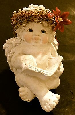 Cast Art Industries Inc Dreamsicles Reading A Book Angel Figurine