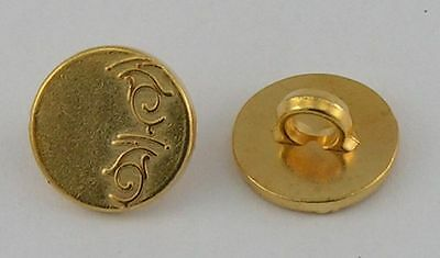 10 Metal Buttons, Eyelets buttons, buttons 12mm gold 07.32/0.63oz
