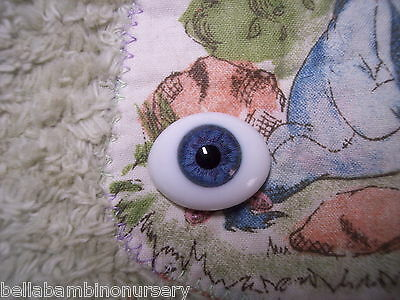 OvAL GLaSs EyEs 6MM BLuE ReBoRn