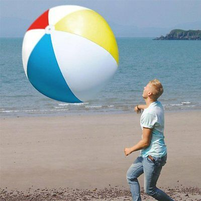 GIANT INFLATABLE BEACH BALL 107CM DIAMETER FUN TOY SUMMER HUGE MASSIVE NEW