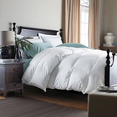 GOOSE FEATHER &  DOWN DUVET / QUILT - 7.5 Tog Super King Bed Size 40%  Down