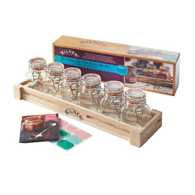 Kilner 20 Piece Spice Jar Gift Set | Spice Storage Set, Kilner Spice Rack