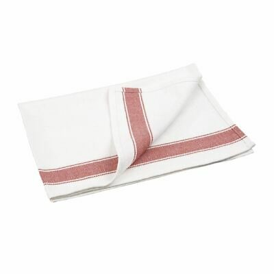 1 X Vogue Heavy Red Tea Towel Kitchen Restaurant Catering Cleaning Cloths
