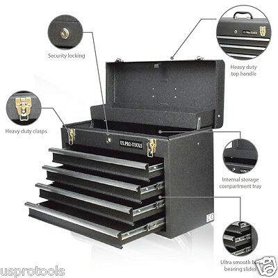 04 US Pro tools Portable Toolbox Tool Chest Box Cabinet Garage Steel 4 drawers