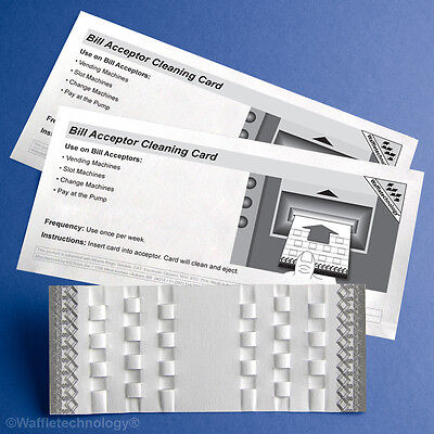 Bill Acceptor Cleaning Card featuring Waffletechnology® - (15 Cards)