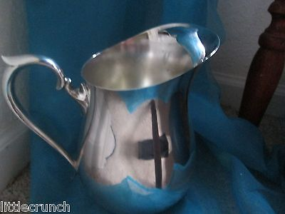 F B Roger Silver Plate Water Tea Pitcher With Ice Lip Nice Condition
