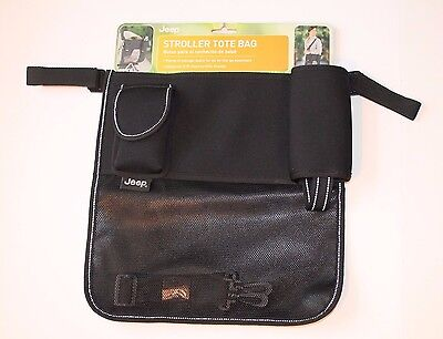 Jeep Black Stroller Tote Bag Storage Organizer for Baby Strollers NEW