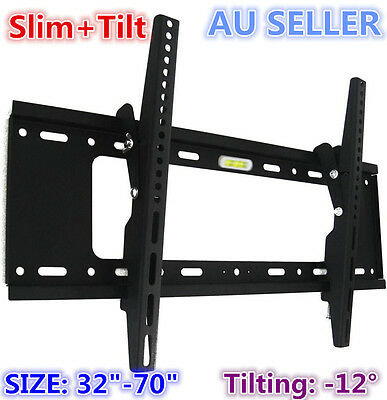 "H600 Universal Slim Tilt LCD LED PLASMA FLAT TV Wall Mount Bracket for 32"" - 65"""