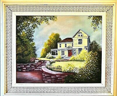 Z.Baney-Beautiful Home-Untitled ORIG. Oil Painting on Canvas/Hand Signed/Framed