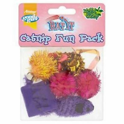 Good Girl Catnip Fun Pack 6 Cat Kitten Toys Incls Foil Rustling Mouse 3 Balls Et