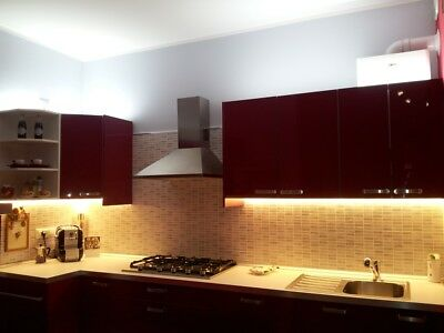 BARRA LED TOUCH Alluminio, Sotto Pensile Cucina, ON/OFF chip SAMSUNG ...