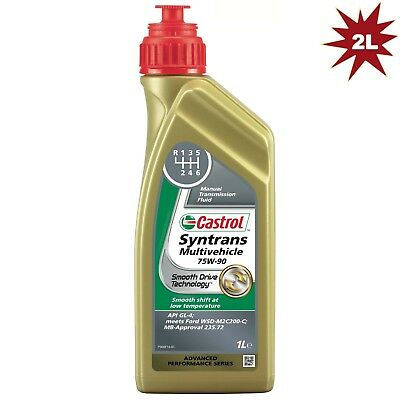 Castrol Syntrans Multivehicle 75W-90 Fully Synthetic MTF 75W90- 2 Litres: 2 x 1L