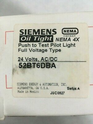Siemens 52Bt6Dba - Ptt Pilot Light/illuminated Pushbutton