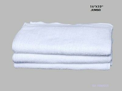 60 Terry Cloth Jumbo Cotton Rib Cleaning Janitorial Towels Shop Bar Rags 16X19