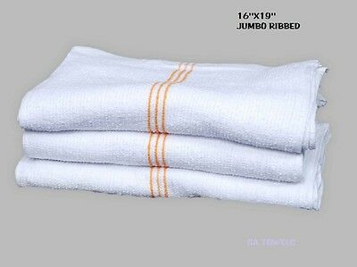 60 Terry Cloth Jumbo 3 Gold Rib Cleaning Janitorial Towels Shop Bar Rags 16X19