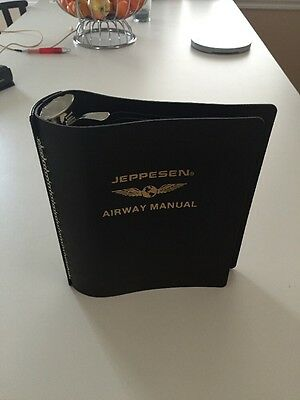 """*NEW* Jeppesen Airway Manual 2"""" Bonded Leather"""