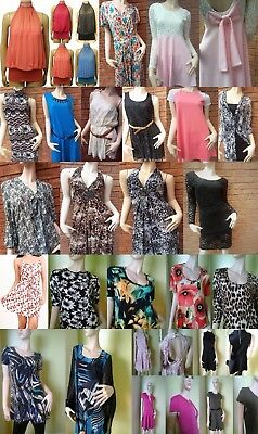 New Women Ladies Casual Dress Tops Plain Printed Girls Work Party Wear Plus Size
