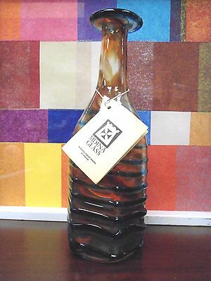 Vintage 1985 Mdina Art Glass Decanter 10'' By 3.5'' New
