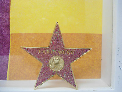 Hollywood Star Souvenir Glittery Sparkle Magnet 2.2 Inches Pink