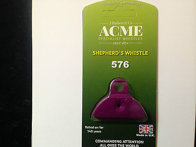 Acme 576 purple plastic shepherds mouth lip whistle