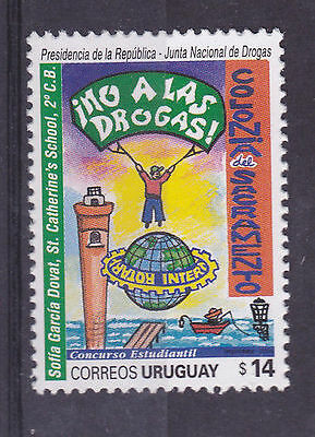 Rotary Drugs abuse campaign lighthouse boat children URUGUAY Sc#2076 MNH STAMP