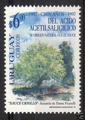 Pharmacy aspirin acetylsalicylic willow tree medicine URUGUAY #1676 MNH STAMP