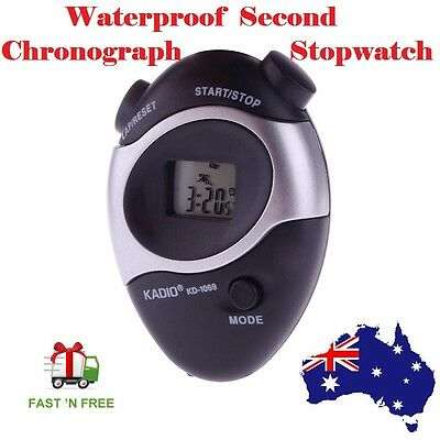 Waterproof Second Chronograph Timer Stopwatch Sport Counter Digital Odometer
