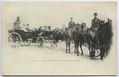 1901 Pt Pu Ub Postcard Czar Nicholas Ii With French President Official Visit L55