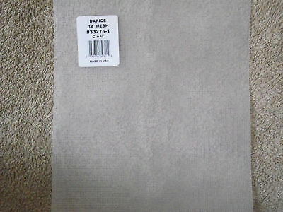 "10 Sheets - 14 Count Plastic Canvas  - size 11"" x 8.25"""