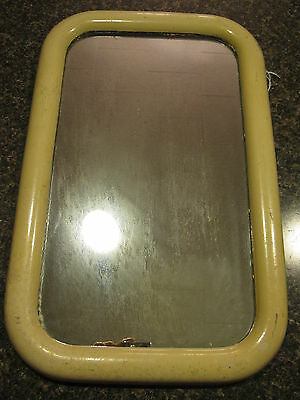 """Old Wooden White Rectangular Painted Mirror 12.25x19.5x1"""""""