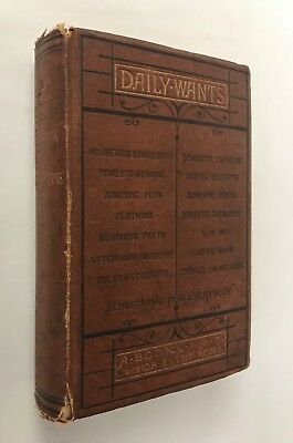 1873 Victorian Home Guide Bees Horse Soap making Cooking Medicine Lacework Pets