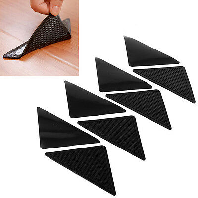 Ruggies Rug Carpet Mat Grippers Grip Corners Anti Skid Washable Silicone