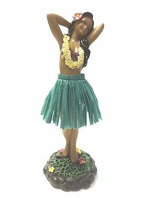 Dashboard Hula Doll Green Skirt Hawaiian