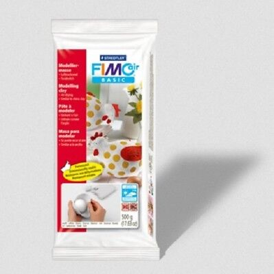 Staedtler White FIMO Basic Air Drying Modelling Clay 500g  8100-0