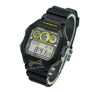 -Casio AE1300WH-1A Digital Watch Brand New & 100% Authentic