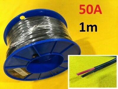 1 M x 50 Amp AUTO WIRE 6 mm TWIN CORE dual sheath GP car electrical cable