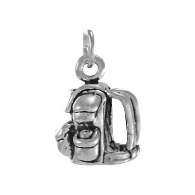 925 Sterling Silver Backpack Charm