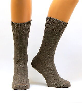 Mens Warm Thermal Thick Heavy Long Alpaca Dog Wool Socks | Winter Hiking Hunting
