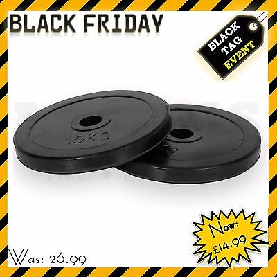"Olympic 2"" Rubber Bumper Weight Plates Discs  5cm Barbell Bar Hole, 10 To 100kg"