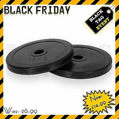 """VINYL 1"""" Standard Weight Plates Discs 2.5cm Barbell Bar Hole Home Gym Excercise"""