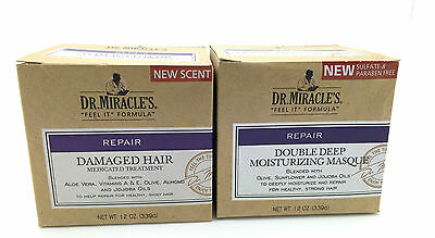 Dr Miracle Damaged Hair Medicated Treatment & Masque SPECIAL OFFER********