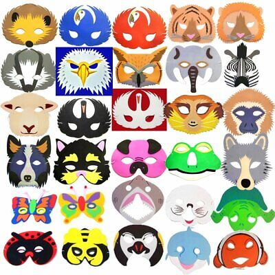 Foam Face Masks - Animals, Birds, Dinosaurs, Monsters, Fantasy Creatures & More!