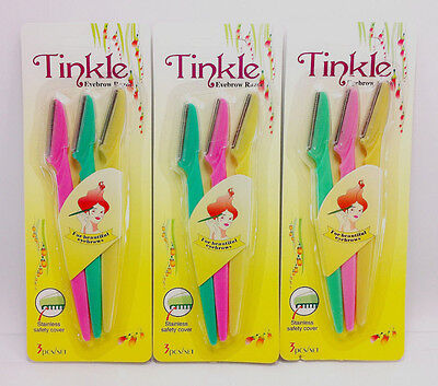 6x Lady Removal Tinkle Eyebrow Face Razor Trimmer Shaper Pro Shaving Kit  Blades