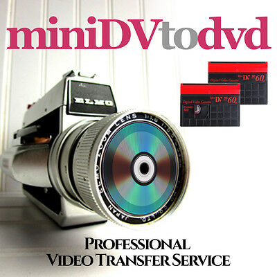 MINI DV VIDEO TAPE TO DVD TRANSFER SERVICE - Retain your special memories on DVD