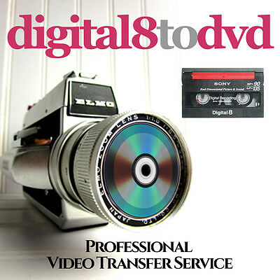 DIGITAL Hi8 TAPES TO DVD TRANSFER SERVICE - Retain your special memories on DVD