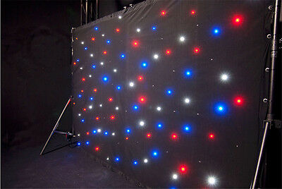 AVE Star Drape - LED DMX controlled curtain - INC Carry Bag - Full Australian...