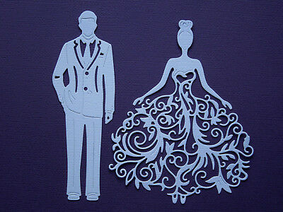 Lady and Man Paper Die Cuts x 3 Sets Scrapbooking Embellishment - NOT a DIE
