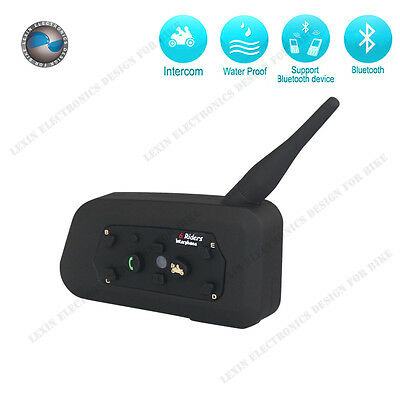 1 X Bluetooth Wireless Motorcycle Helmet Interphone Intercom Headset 6 Riders